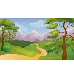 Pines Forest Game Background vector image