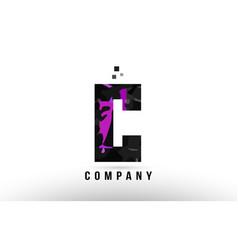 Purple black alphabet letter c logo design vector