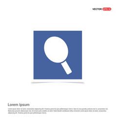 Racket icon - blue photo frame vector