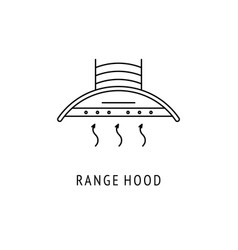 Range hood outline icon vector