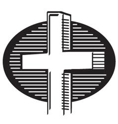 Religious cross vector