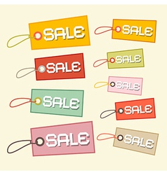 Retro Paper Sale Tags Labels vector image