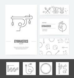 Rhythmic Gymnastics Business Set vector