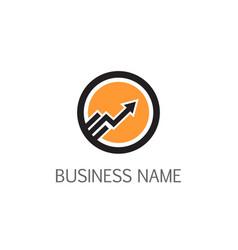 round line arrow modern logo vector image