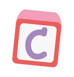 school education alphabet block toy isolated icon vector image