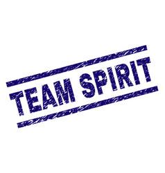Scratched textured team spirit stamp seal vector
