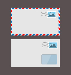Set paper envelopes postal envelope vector