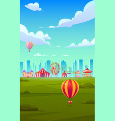 smartphone background theme with carnival funfair vector image