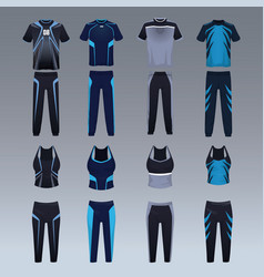 Sport wear collection vector
