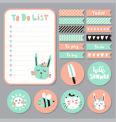 summer list vector image