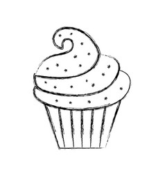 Sweet and delicious cupcake vector