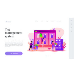 tag management landing page template vector image