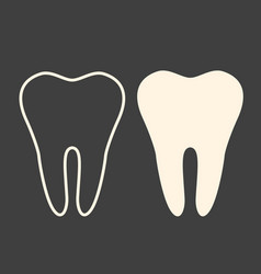 Teeth signs on beige background solid color and vector