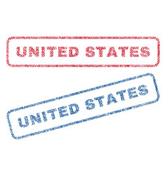 united states textile stamps vector image
