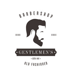Vintage barbershop logo for your design vector