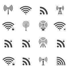 wireless icons set vector image