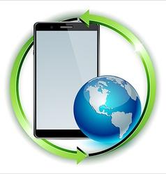 world distribution smartphone concept vector image