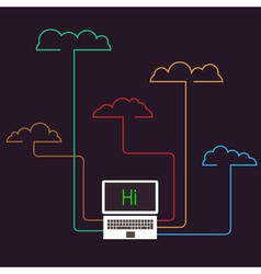 Creative cloud computing concept vector image