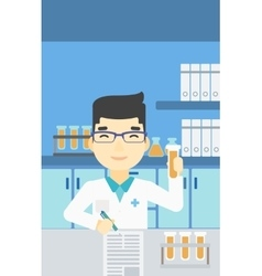 Laboratory assistant working vector image vector image