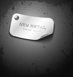 New metal stainless design on grunge background vector image