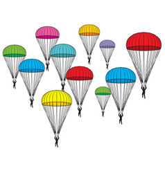 parachutes icons vector image vector image