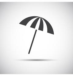 Simple grey beach umbrella vector image vector image