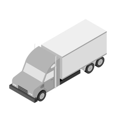 Truck icon in monochrome style isolated on white vector image vector image