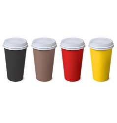 Cup Set vector image vector image