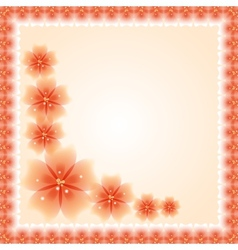 Floral Pattern Fine Greeting Card EPS10 vector image
