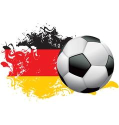 Germany Soccer Grunge vector image
