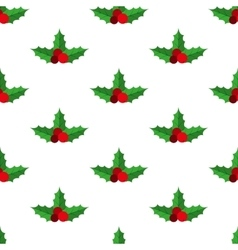 Holly berry pattern vector image