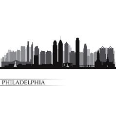 Philadelphia city skyline detailed silhouette vector image vector image