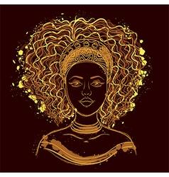 portrait of african woman vector image
