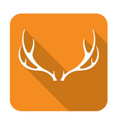 silhouette of the deer horns vector image