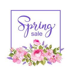 spring flower card vector image