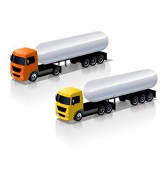 trucks icons set vector image vector image