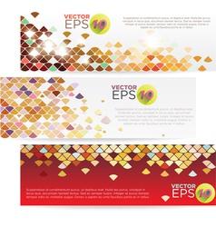 V 000078 Colorful Grid Banner vector image