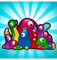 colorful slimy party vector image