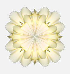 guilloche rosette isolated on a white background vector image