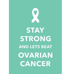 ovarian cancer poster vector image vector image
