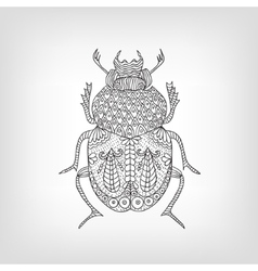 The scarab beetle on a light background vector