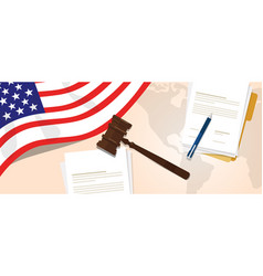usa united states of america law constitution vector image vector image
