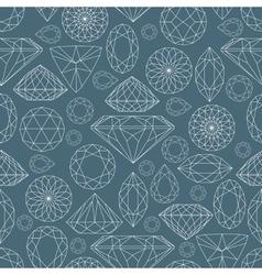 seamless diamond pattern 2 vector image