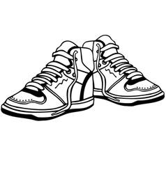 Sport shoes vector image vector image