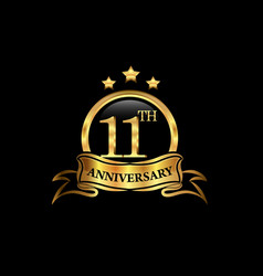 11 year anniversary celebration anniversary vector