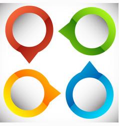 4-step circular presentation infographics element vector