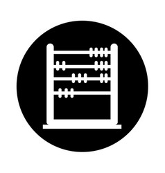 Abacus education isolated icon vector