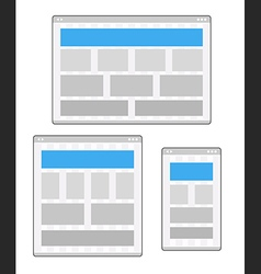 Adaptive design layouts Web site page templates vector