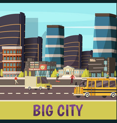 Big city orthogonal background vector