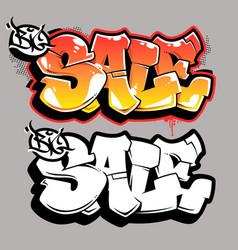 big sale graffiti lettering vector image